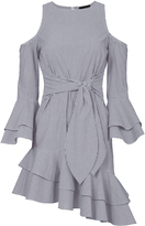 Exclusive for Intermix Ellie Cold Shoulder Asymmetric Dress