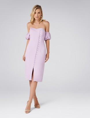 Ever New Lilly Off Shoulder Linen-Blend Dress