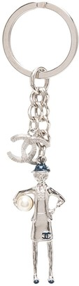 Chanel Pre Owned 2010 Mademoiselle CC key ring