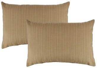 Austin Horn Classics Sunbrella Dupione Bamboo Boudoir Outdoor Throw Pillows