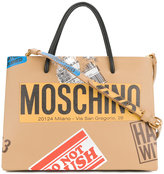 Moschino luggage label detail tote