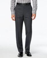 Alfani Men's Charcoal Flat-Front Pants, Classic Fit