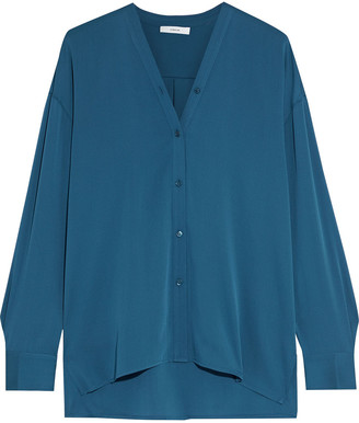 Vince Stretch-silk Crepe De Chine Shirt