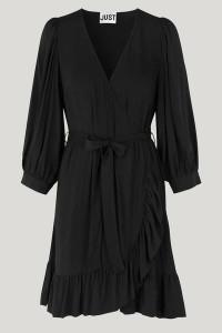Just Female Ellery Black Wrap Dress - XS