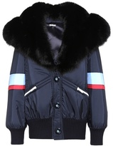 Miu Miu Fur-trimmed coat