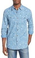 Lucky Brand Mason Bandana Print Long Sleeve Sport Shirt