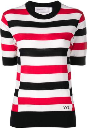 Victoria Victoria Beckham striped knitted blouse