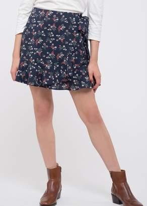 Blu Pepper Floral Wrap Mini Skirt