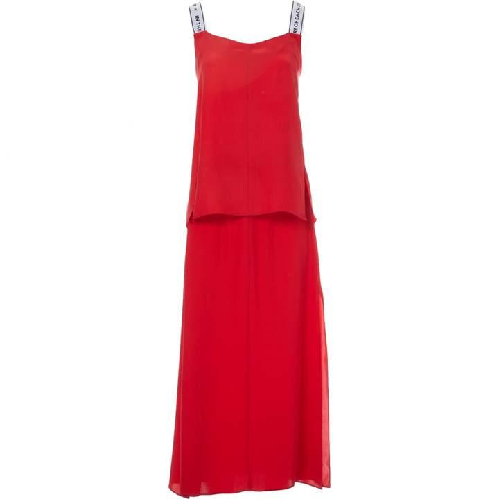 Each X Other Each X Red Silk Skirt for Women