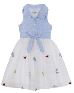 Rare Editions Toddler Girls Embroidered Mesh Dress