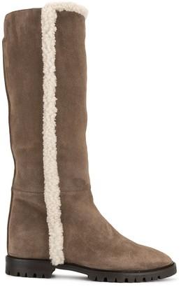Aquatalia Cheyenne Shearling Trim Boot