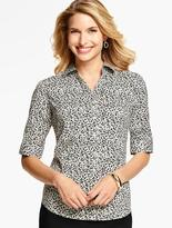 Talbots The Perfect Elbow-Sleeve Shirt-Animal Print