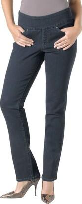 Jag Jeans Women's Petite Peri Pull On Straight Leg Jean