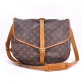 Louis Vuitton very good (VG) Vintage Saumur 35 Brown Monogram Canvas Shoulder Bag