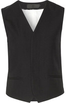 Haider Ackermann Wool-crepe Vest - Black