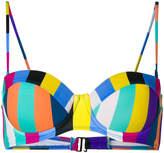 Diane von Furstenberg Harper stripe bikini bralette