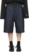 Juun.J Blue Denim 'Covered In Mood' Shorts