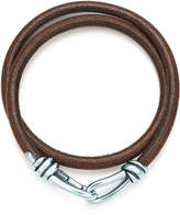 Tiffany & Co. Paloma Picasso® Knot double braid wrap bracelet of leather and silver, small.