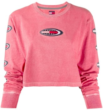Tommy Jeans Applique Logo Patch Knit Top
