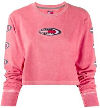 Tommy Jeans appliqué logo patch knit top