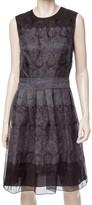 Max Studio Printed Silk Organza Dress