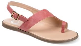 Brinley Co. Womens Slingback Crossover Sandal