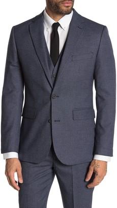 Moss Bros Medium Blue Birdseye Two Button Notch Lapel Tailored Fit Suit Separates Jacket