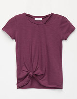 Full Tilt Cut Out Girls Tie Front Top