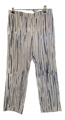 J.W.Anderson White Silk Trousers