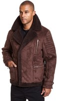 Excelled Men's Excelled Faux-Shearling Jacket