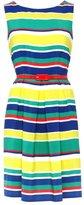 Petite stripe prom dress