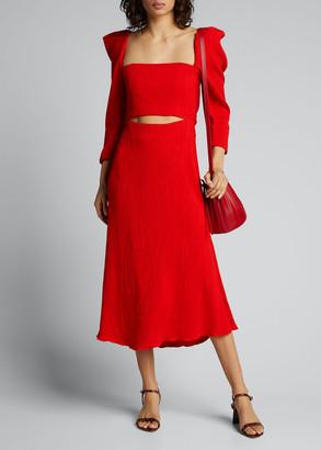 Johanna Ortiz Lady of Heaven Crepe Cutout Dress