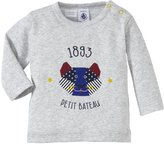 Petit Bateau Graphic Tee (Baby) - Grey-12 Months
