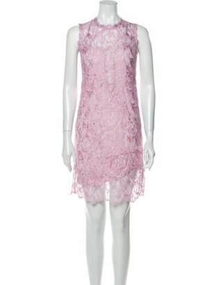 Emilio Pucci Lace Pattern Mini Dress Purple