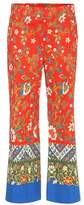 Tory Burch Dayton printed cotton cropped trousers