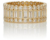 Sydney Evan Baguette and Round Bezel Stacked Eternity Ring