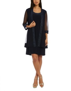 R & M Richards Petite Embellished Dress & Jacket