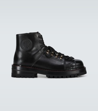 Versace Leather mountain boots