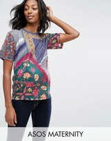 Asos T-Shirt in Cut About Scarf Print