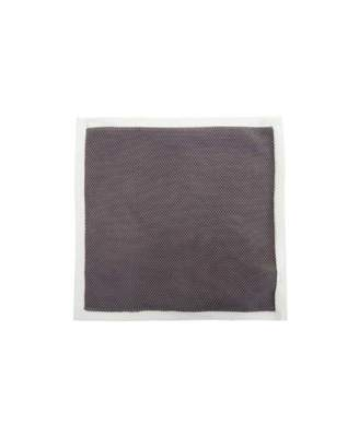 Gibson London Knitted Pocket Square Colour: GREY, Size: One Size