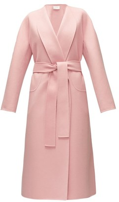 The Row Celete Belted Cashmere Coat - Womens - Light Pink