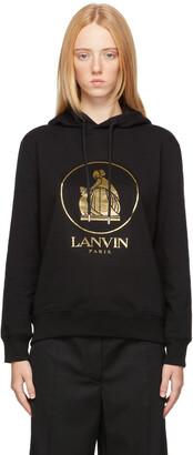 Lanvin Black & Gold Mother & Child Hoodie