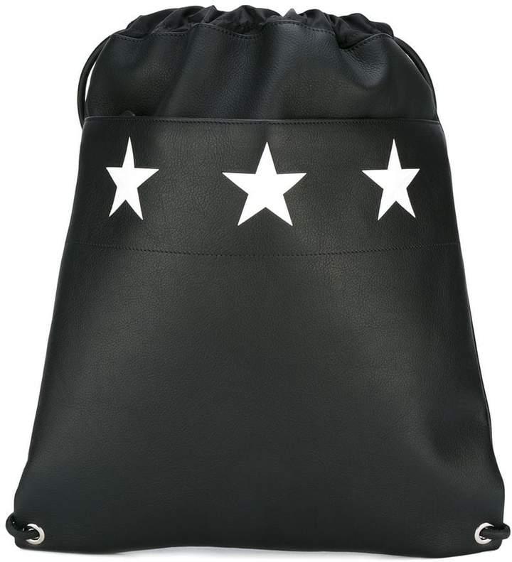 Givenchy star print drawstring backpack