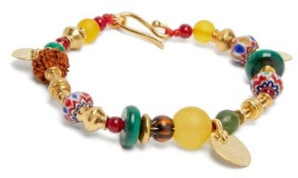 Katerina Makriyianni - Beaded 24kt Gold-plated Sterling-silver Bracelet - Multi