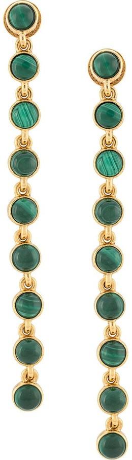 labradorite stones semi precious amazonite Oscar earrings gold malachite