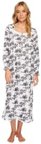 Eileen West Toile Print Flannel Ballet Nightgown Women's Pajama