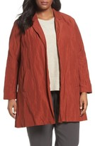 Eileen Fisher Plus Size Women's Notch Collar Long Jacket