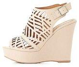 Charlotte Russe Laser Cut Wedge Sandals