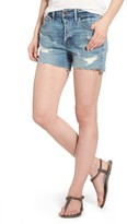 Treasure & Bond Women's High Waist Boyfriend Cutoff Denim Shorts
