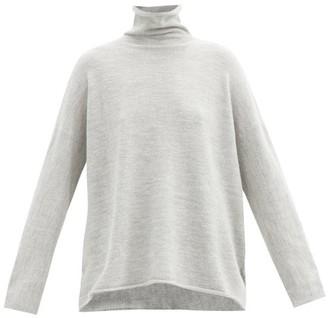 LAUREN MANOOGIAN Alpaca-blend Roll-neck Sweater - Light Grey